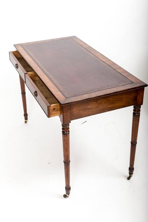 19th Century Mahogany Writing Table, England, circa 1850 In Excellent Condition For Sale In East Hampton, NY
