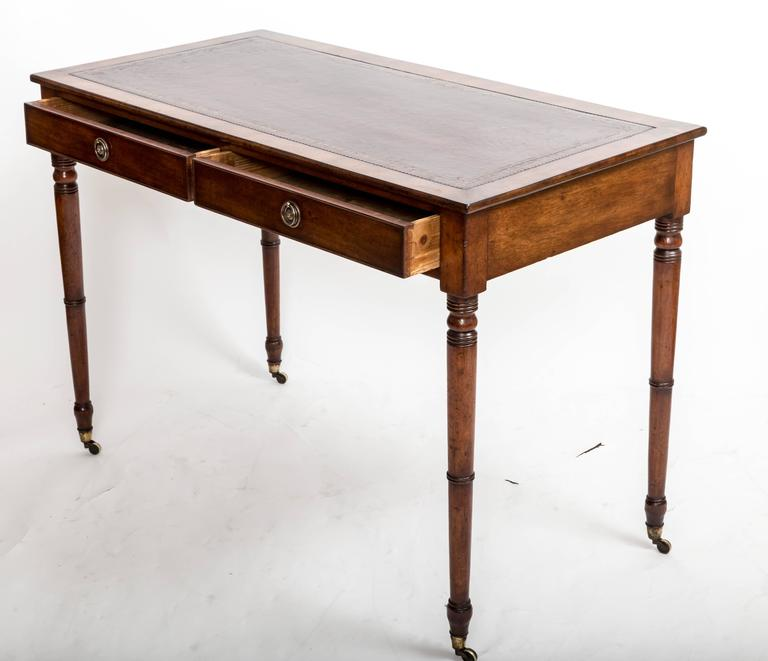 Mid-19th Century 19th Century Mahogany Writing Table, England, circa 1850 For Sale