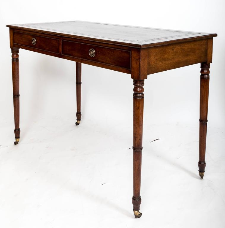 19th Century Mahogany Writing Table, England, circa 1850 For Sale 5