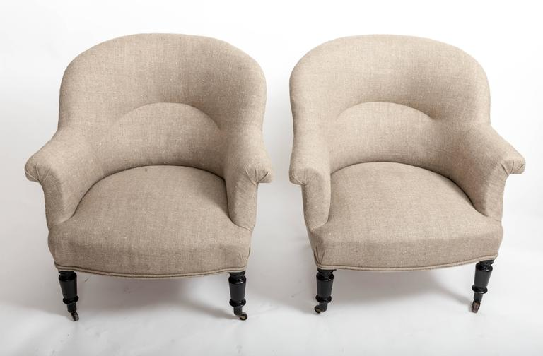 Pair of French Early 19th Century Upholstered Chairs 2
