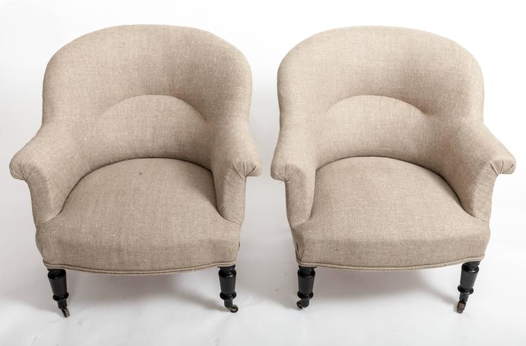 Pair of French Early 19th Century Upholstered Chairs 3