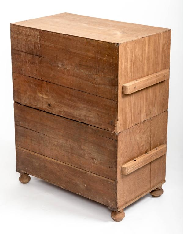 Early 19th Century Teak Military Chest, England, circa 1840 3