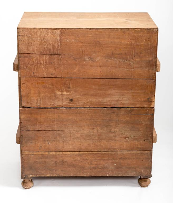 Early 19th Century Teak Military Chest, England, circa 1840 4