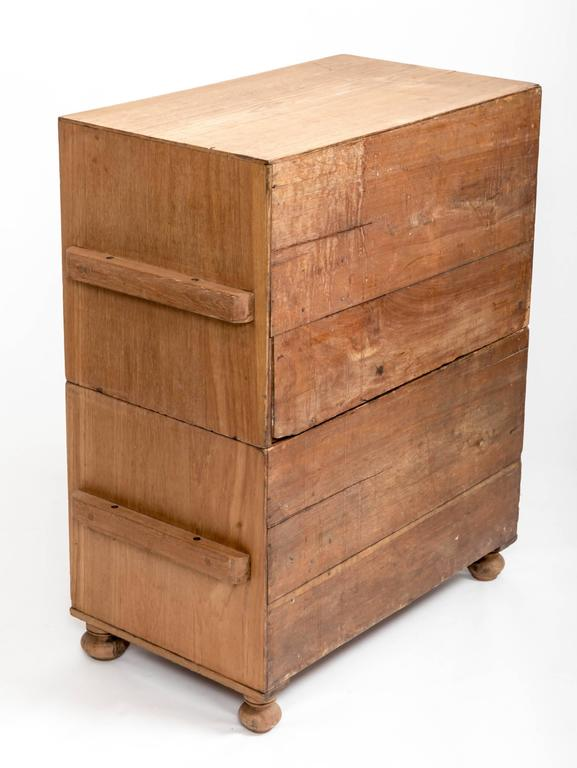 Early 19th Century Teak Military Chest, England, circa 1840 5