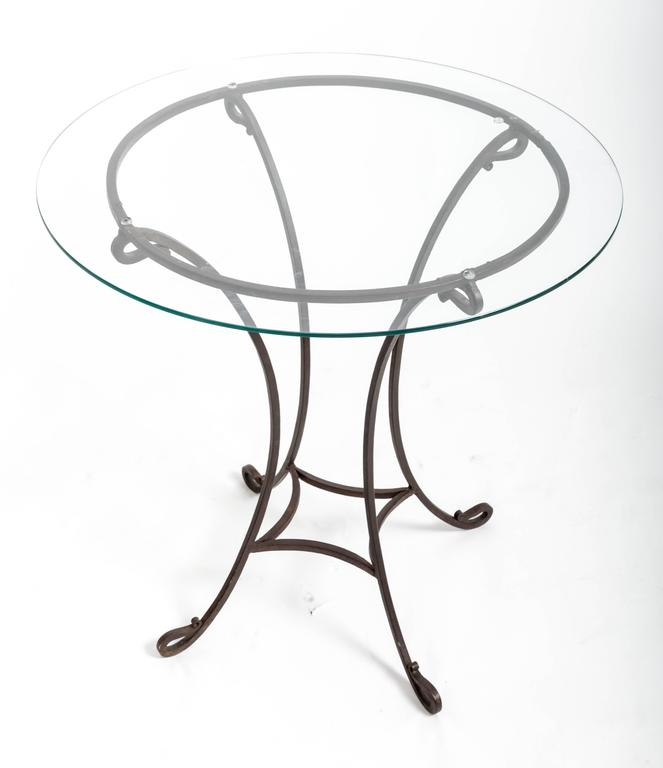 Pair of Wrought Iron Side Tables, France, circa 1940s In Good Condition For Sale In East Hampton, NY
