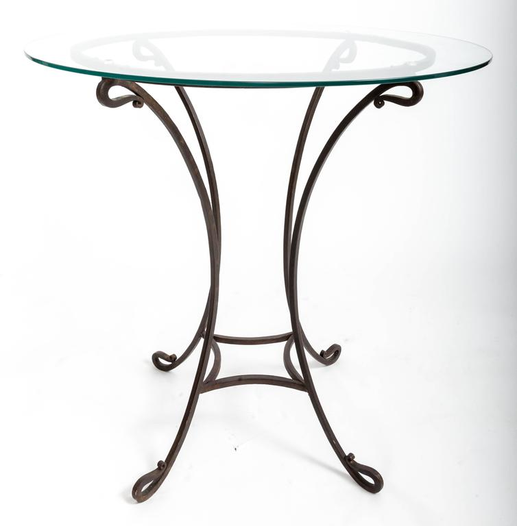 Pair of Wrought Iron Side Tables, France, circa 1940s For Sale 2