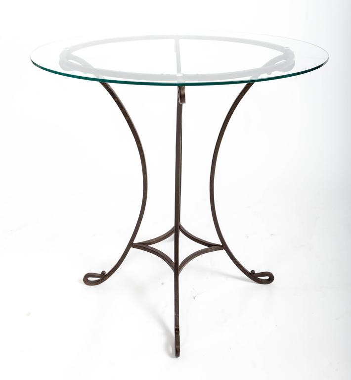 Pair of Wrought Iron Side Tables, France, circa 1940s For Sale 3