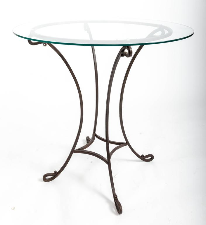 Pair of Wrought Iron Side Tables, France, circa 1940s For Sale 4