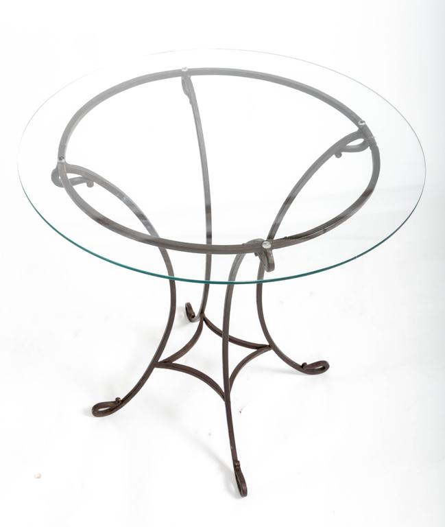Pair of Wrought Iron Side Tables, France, circa 1940s For Sale 5