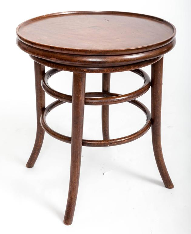 English 19th Century Bentwood Side Table, England, circa 1890 For Sale