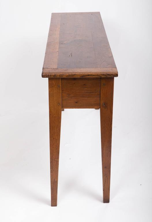 19th Century Chestnut and Oak Server, France, circa 1860 5