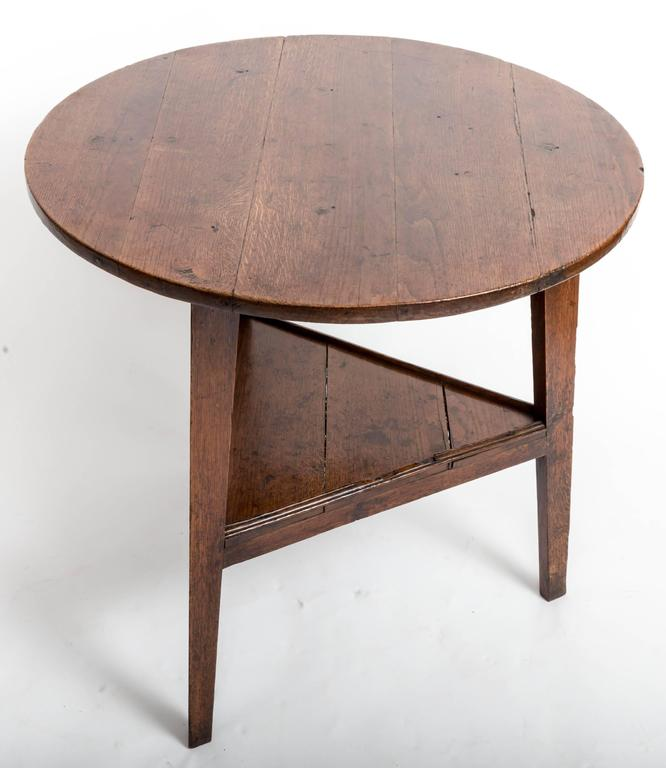 Early 19th Century Early 18th Century Oak Cricket Table. England, circa, 1800 For Sale