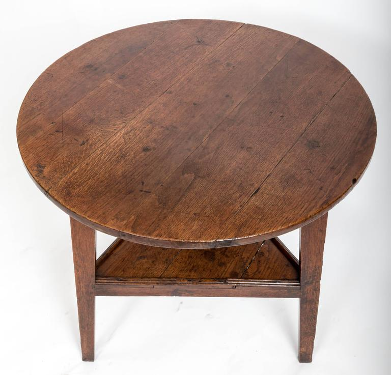 Early 18th Century Oak Cricket Table. England, circa, 1800 For Sale 5