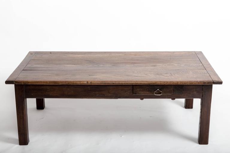 Mid-19th Century Early 19th Century Chestnut Coffee Table, France, circa 1840 For Sale