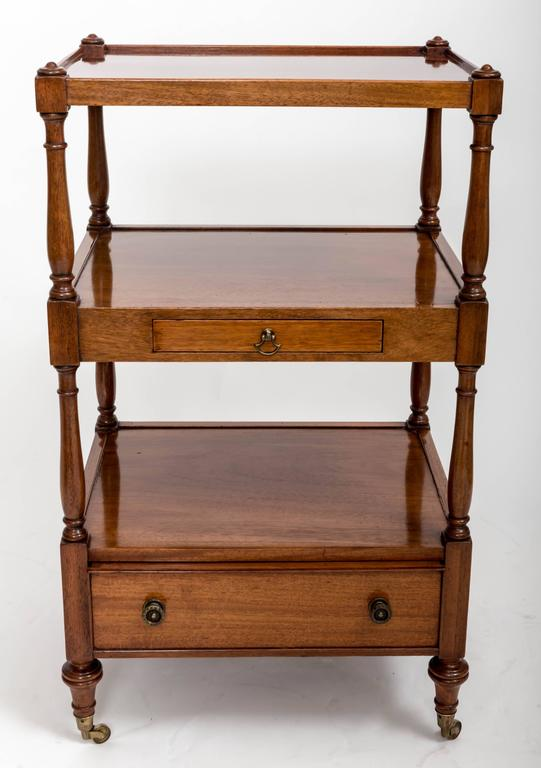 Pair of Three-Tier Bedside Etageres, England, circa 1830 6