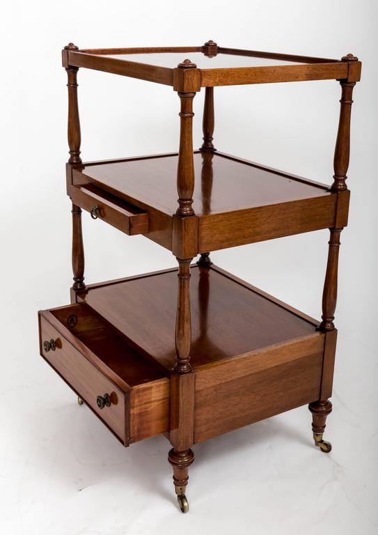 Pair of Three-Tier Bedside Etageres, England, circa 1830 For Sale 2