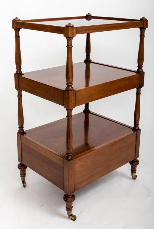 Pair of Three-Tier Bedside Etageres, England, circa 1830 For Sale 4