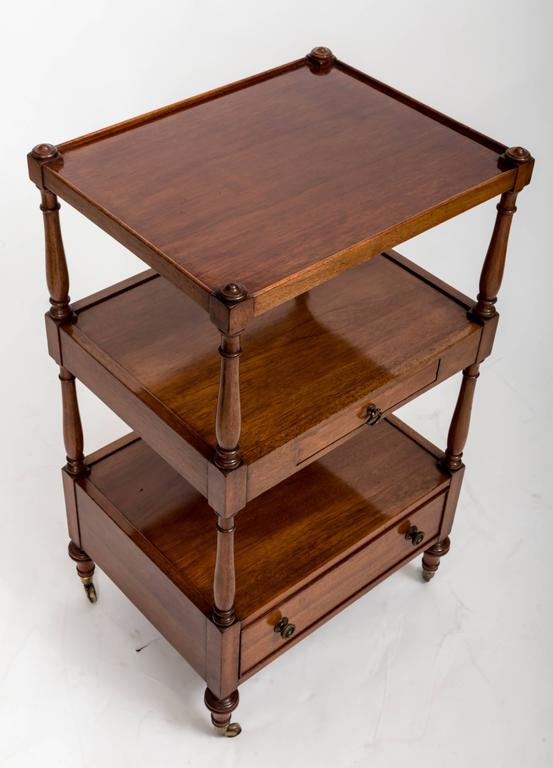 Pair of Three-Tier Bedside Etageres, England, circa 1830 10