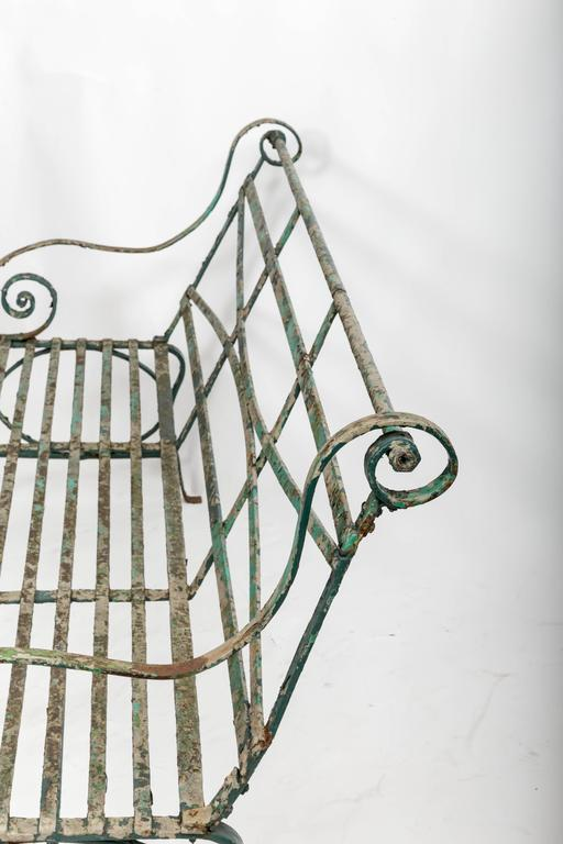 Early 19th Century Wrought Iron Garden Bench, England, circa 1820 5