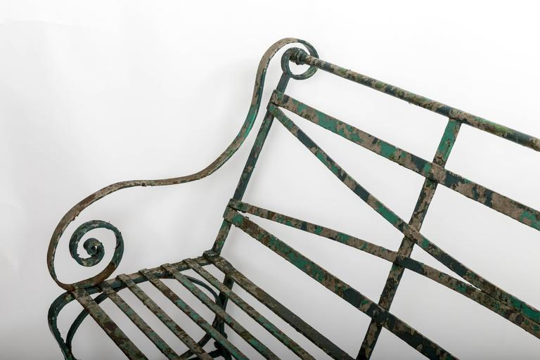 Early 19th Century Wrought Iron Garden Bench, England, circa 1820 7