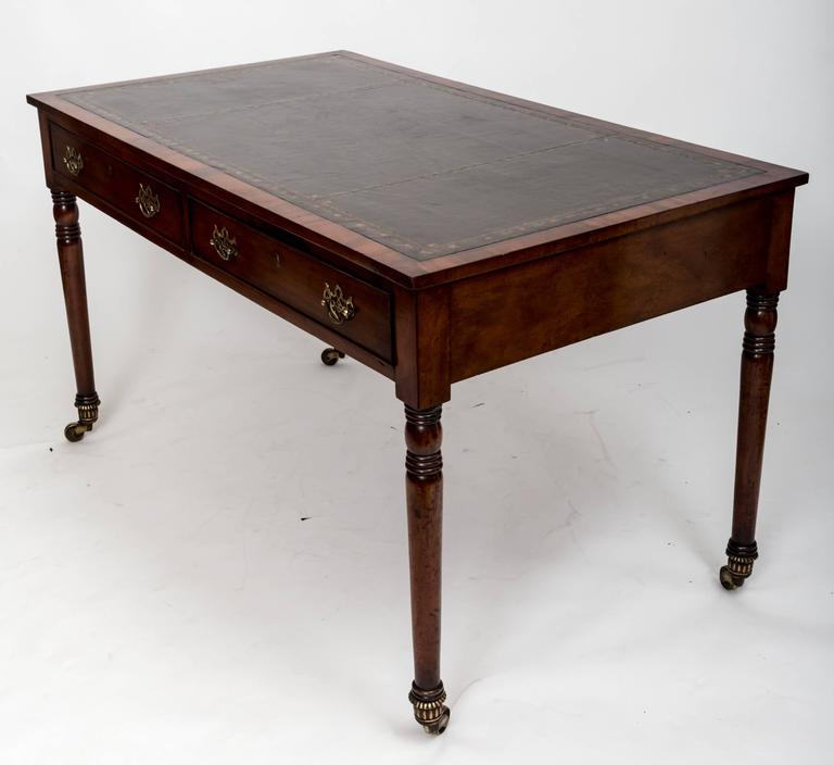Early 19th Century William IV Mahogany Writing Table, England, circa 1830 2