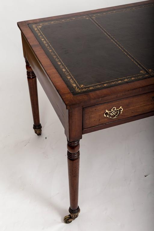 Early 19th Century William IV Mahogany Writing Table, England, circa 1830 3