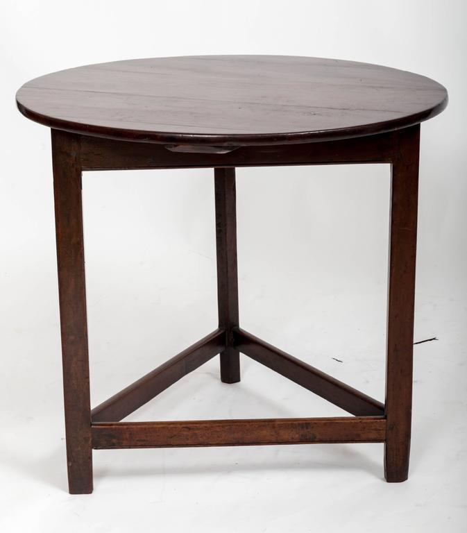 English 18th Century Mahogany Cricket Table, England, circa 1780 For Sale