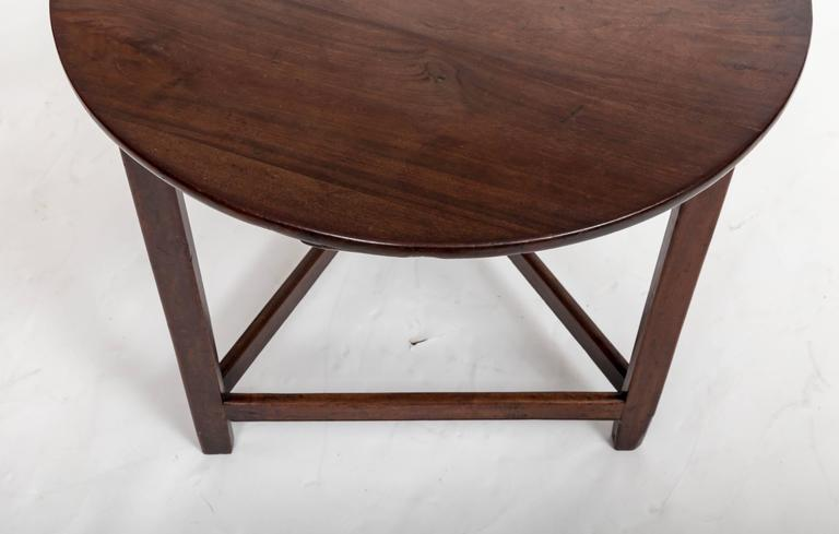 Late 18th Century 18th Century Mahogany Cricket Table, England, circa 1780 For Sale