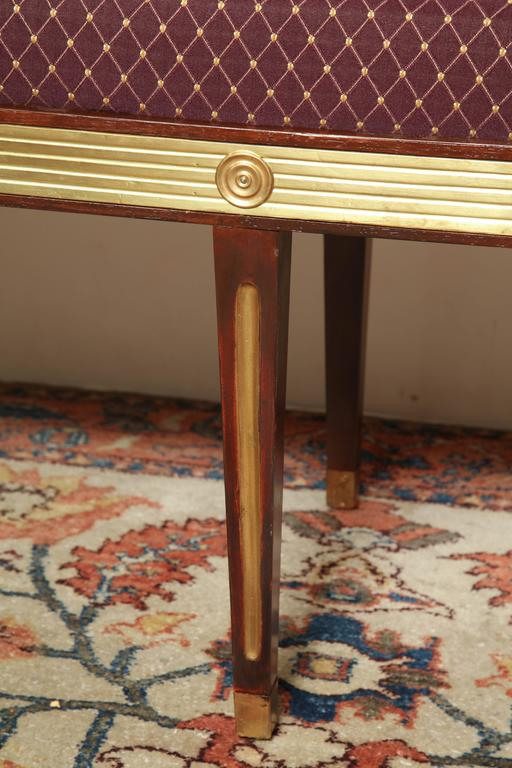Pair of Russian Neoclassic Benches For Sale 1