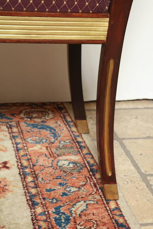 Pair of Russian Neoclassic Benches For Sale 2