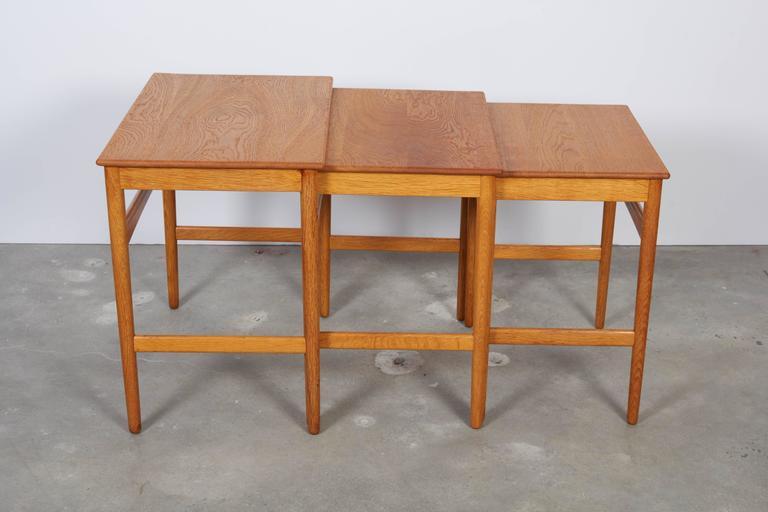 Hans Wegner Oak Nesting Tables 2