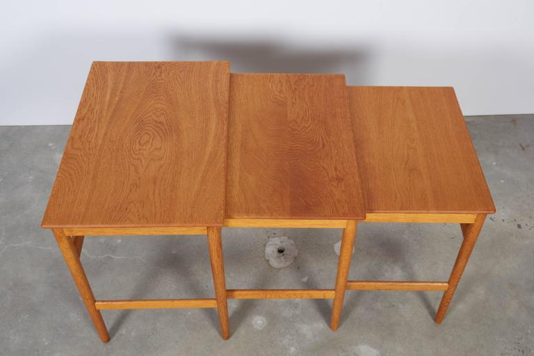 Hans Wegner Oak Nesting Tables 3