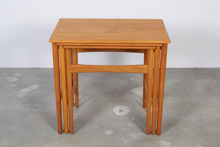 Hans Wegner Oak Nesting Tables 4