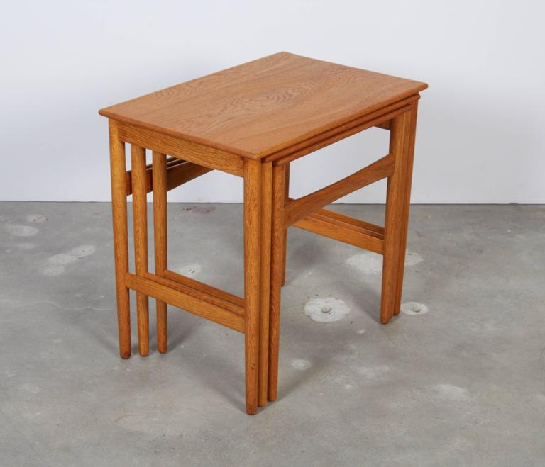 Hans Wegner Oak Nesting Tables 6