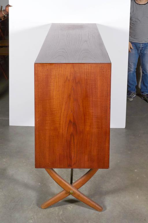 Danish Teak Cupboard by Hans Wegner Aka Saber Leg 4