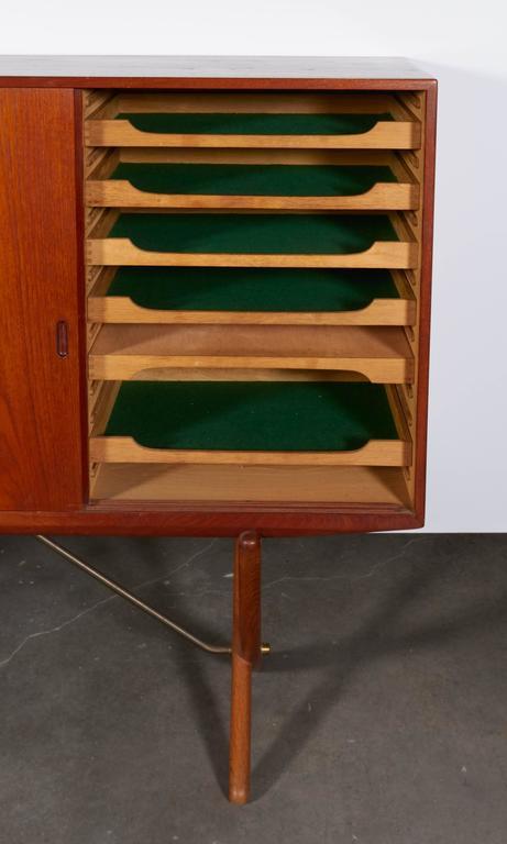 Danish Teak Cupboard by Hans Wegner Aka Saber Leg 7