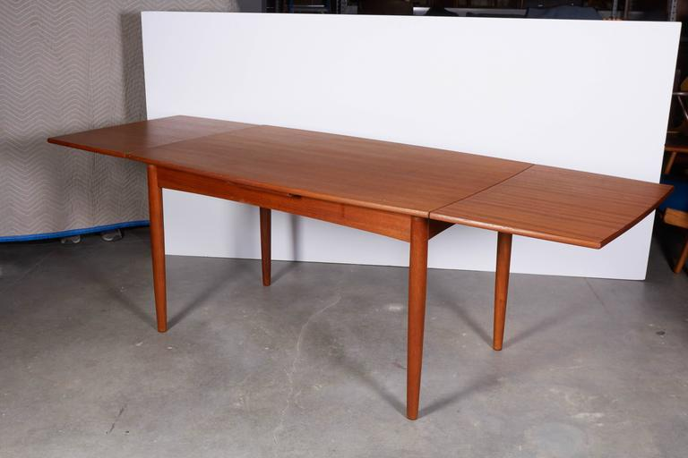 Danish Modern Dining Table, Expandable 2