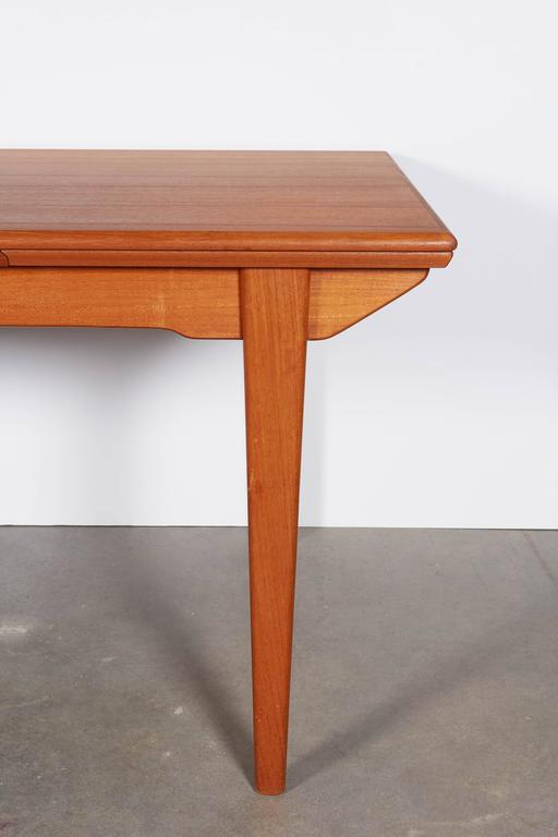 Mid Century Teak Dining Table Expandable For Sale At 1stdibs