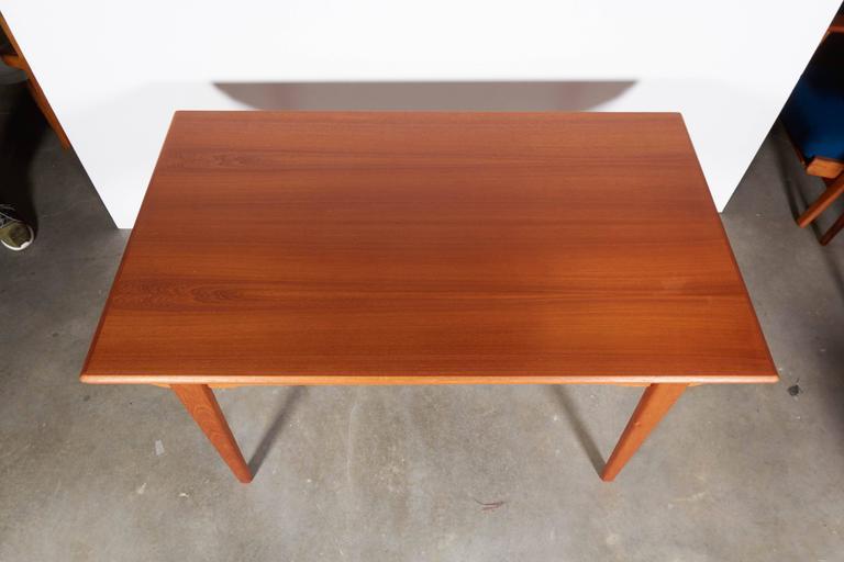 Mid-Century Teak Dining Table, Expandable 4