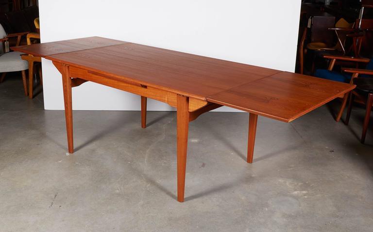 Mid-Century Teak Dining Table, Expandable 6