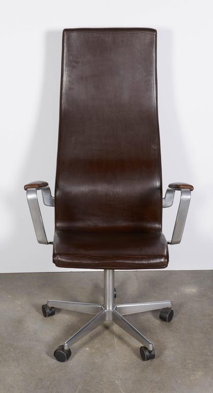 fritz hansen oxford high back desk chair at 1stdibs. Black Bedroom Furniture Sets. Home Design Ideas