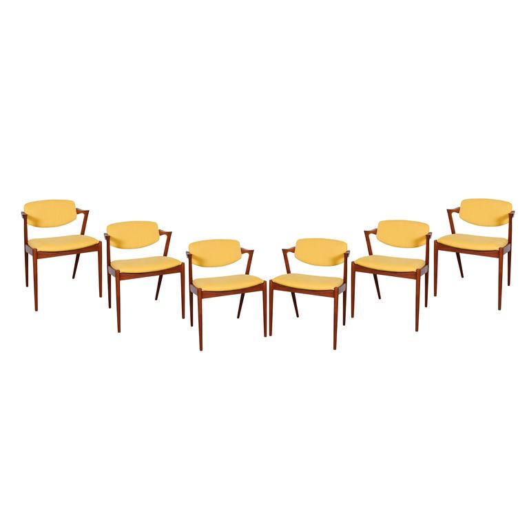 Kai Kristiansen No. 42 Dining Chairs, Set of Six 2