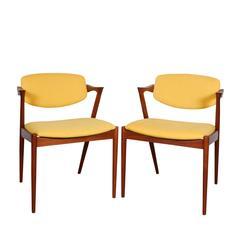 Kai Kristiansen No. 42 Dining Chairs, Set of 6