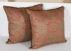 A Pair of Fortuny Fabric Cushion in the Impero Pattern