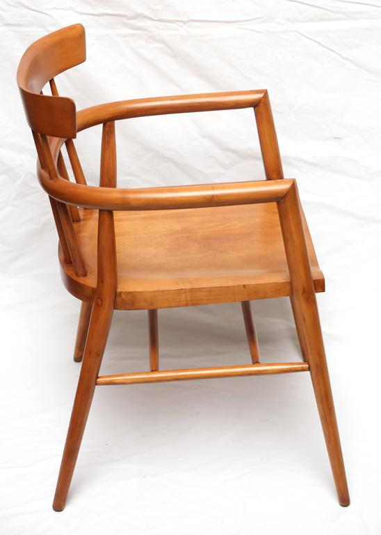 Mid-Century Modern Pair of Paul McCobb Armed Wood Dining Chairs, 1960s For Sale