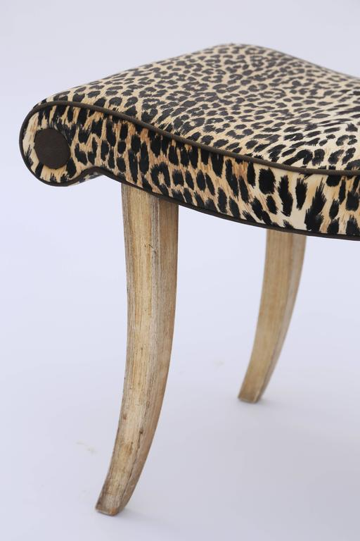 Hollywood Regency Leopard Bench For Sale At 1stdibs