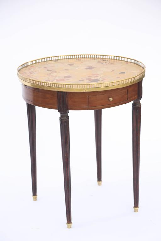 19th Century French Bouillotte Table with Breche D'alep Marble Top In Excellent Condition For Sale In West Palm Beach, FL