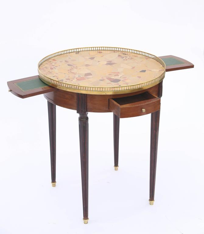 19th Century French Bouillotte Table with Breche D'alep Marble Top For Sale 4