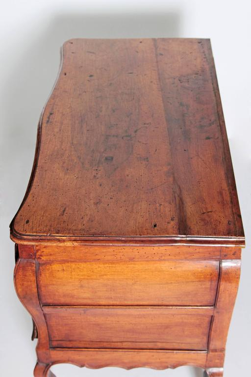 Carved Louis XV Period Walnut Chest For Sale