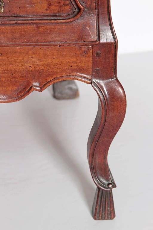 Bronze Louis XV Period Walnut Chest For Sale